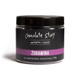 Żurawina w deserowej czekoladzie 70% - 120g
