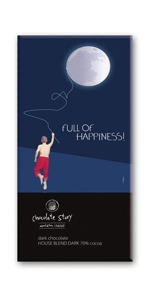 Czekolada gorzka z plakatem BALSI Full of Happiness [House Blend Dark 70%] 50g
