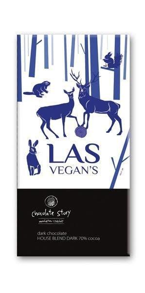 Czekolada gorzka z plakatem BALSI Las Vegan`s [House Blend Dark 70%] 50g