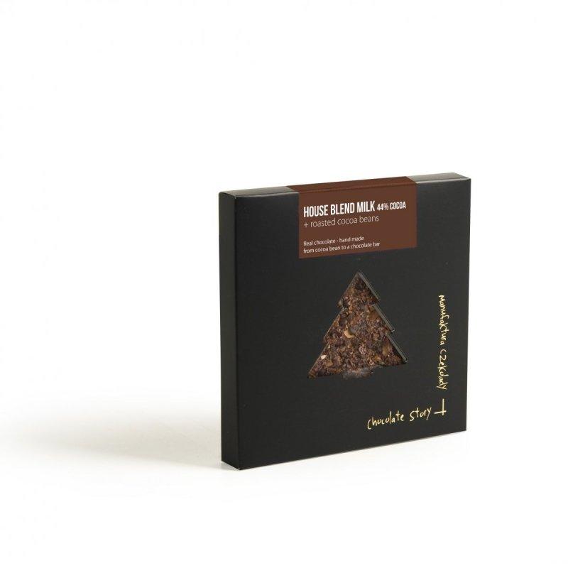 Czekolada mleczna 100g z ziarnem kakao CHOINKA