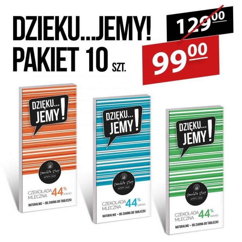 Pakiet 10 czekolad DZIĘKU....JEMY!