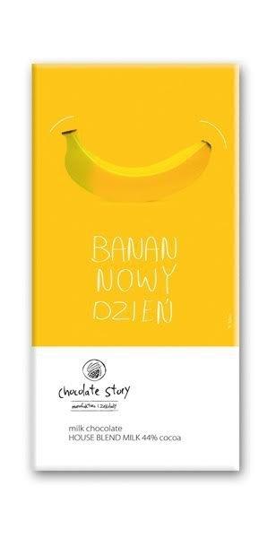Czekolada mleczna z plakatem BALSI Banan/Nowy Dzień [House Blend Milk 44%]