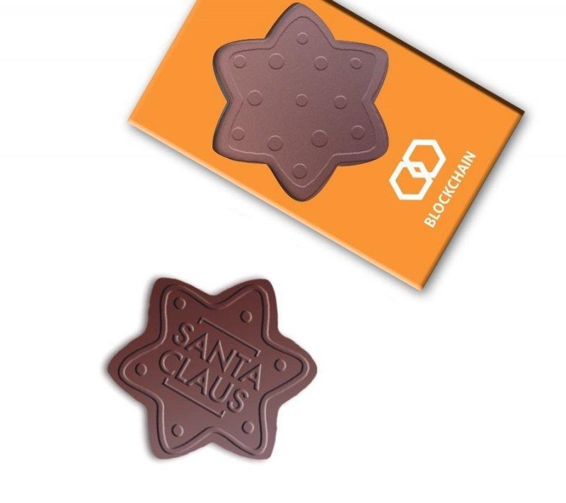 Czekolada w kształcie gwiazdki z dodatkami 70g