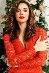 Koronkowa dopasowana sukiena Numoco czerwona 170-6-1