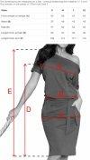 Chabrowa sukienka z wiązaniem Cassie Numoco 249-1 tabela