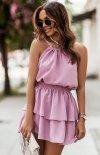 Top i spódniczka Costa  różowa