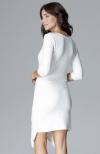 Lenitif L012 sukienka ecru tył