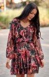 Kobieca sukienka mini z falbankami 0298 R79-1