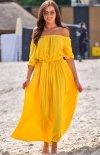 Sukienka maxi hiszpanka żółta A357