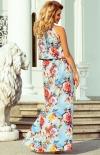 Długa sukienka w kwiaty Numoco 191-5 tył