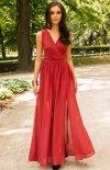 Długa szyfonowa sukienka 0213 ceglasty