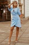 Bicotone sukienka wizytowa z bufkami 2221-05-1