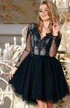 Bicotone 2160-06 sukienka rozkloszowana czarna