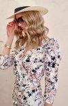 Ołówkowa sukienka w kwiaty 0329/L02-1