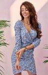 Ołówkowa sukienka w kwiaty 0329/S96