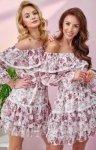 Kobieca sukienka hiszpanka w kwiaty 0328/U46