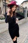 Elegancka kopertowa sukienka czarna 0308