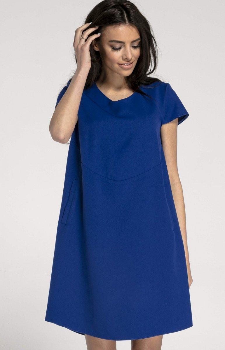 9fef69435b Oversizowa casualowa sukienka kobaltowa NA1003 - MODA DAMSKA - Sklep ...