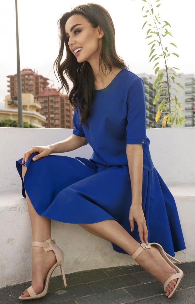 29dc30df2c Lemoniade L237 sukienka chabrowa - Sukienki na co dzień - Sukienki ...
