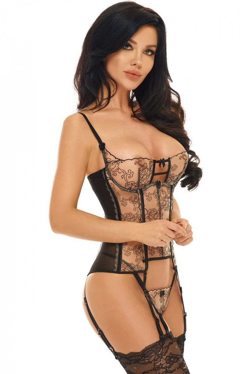 586495b42a8cb8 Beauty Night Philippa gorset i string - Gorsety i Body damskie ...