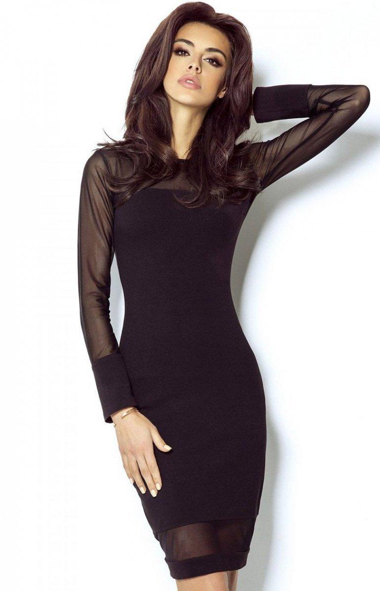 df12dde832 Ivon 207 sukienka czarna - Eleganckie sukienki damskie - Wieczorowe ...