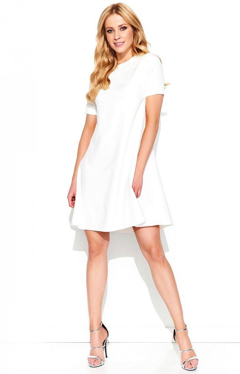 004c1813b6 Makadamia M440 sukienka ecru - Sukienki rozkloszowane - Sukienki na ...