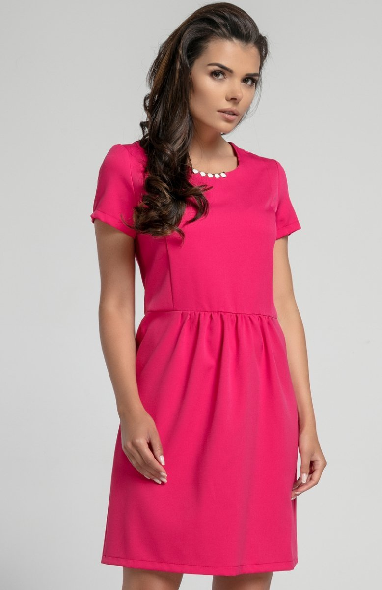 73fd7dd1bd Nommo NA568 sukienka różowa - Sukienki dzienne - SUKIENKI - MODA ...