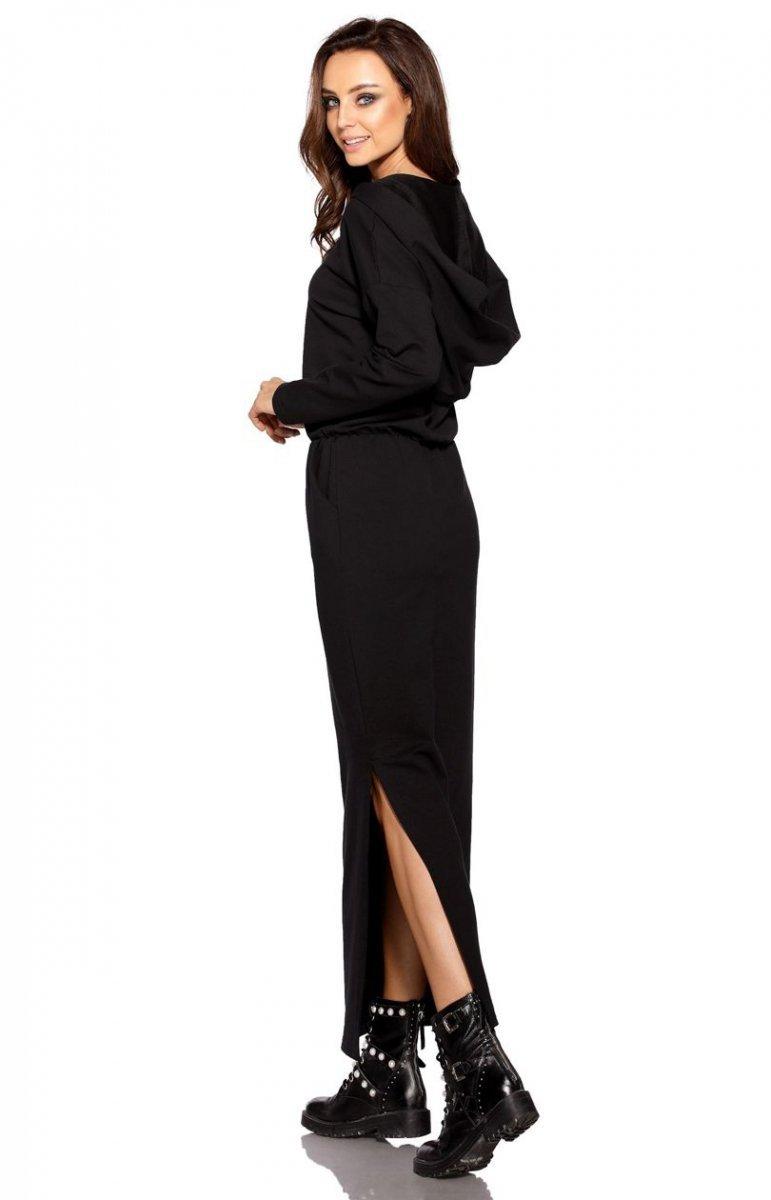 5f95a4fdef Dresowa sukienka MAXI z kapturem L287 - Sklep Intimiti.pl