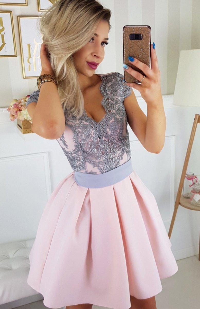 bbad9706c7 Bicotone 2139-33N sukienka jasny róż - Sukienki rozkloszowane ...