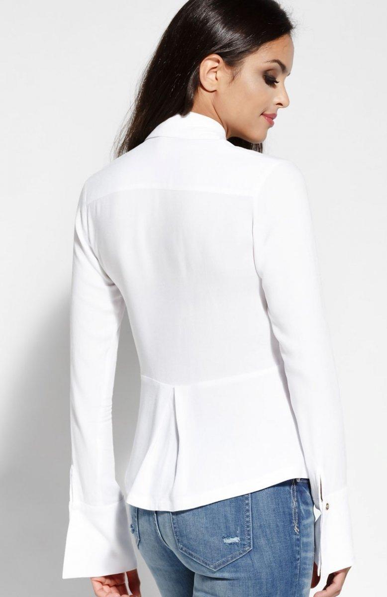 4982257e77c0e4 Dursi Lora koszula biała - Bluzki i Topy damskie - Eleganckie bluzki ...