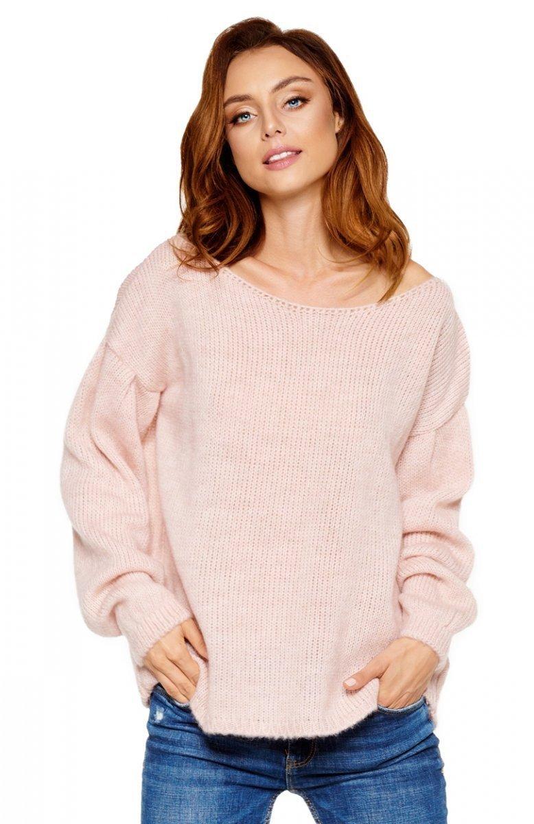 Zaktualizowano Lemoniade LS216 sweter pudrowy róż - Swetry damskie - MODA DAMSKA JE15