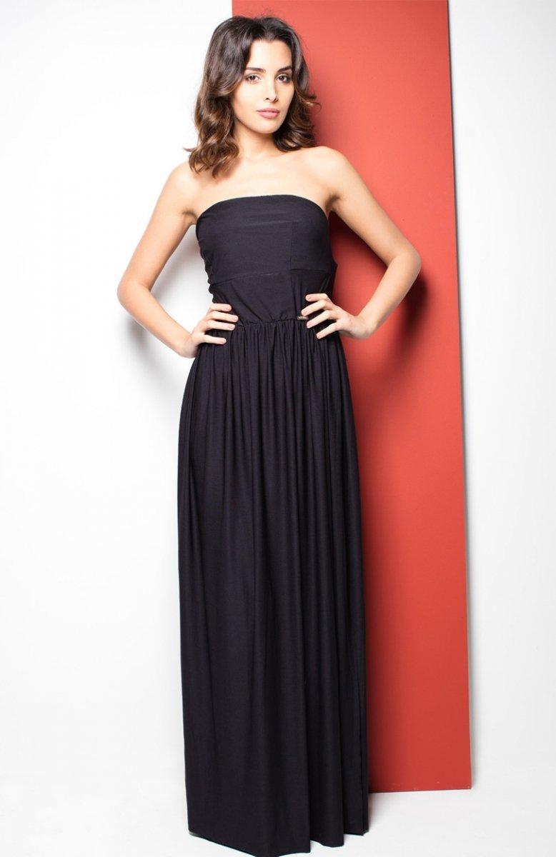 b0cc74c68b Katrus K252 sukienka czarna - Sukienki i Bluzki Katrus - Odzież ...