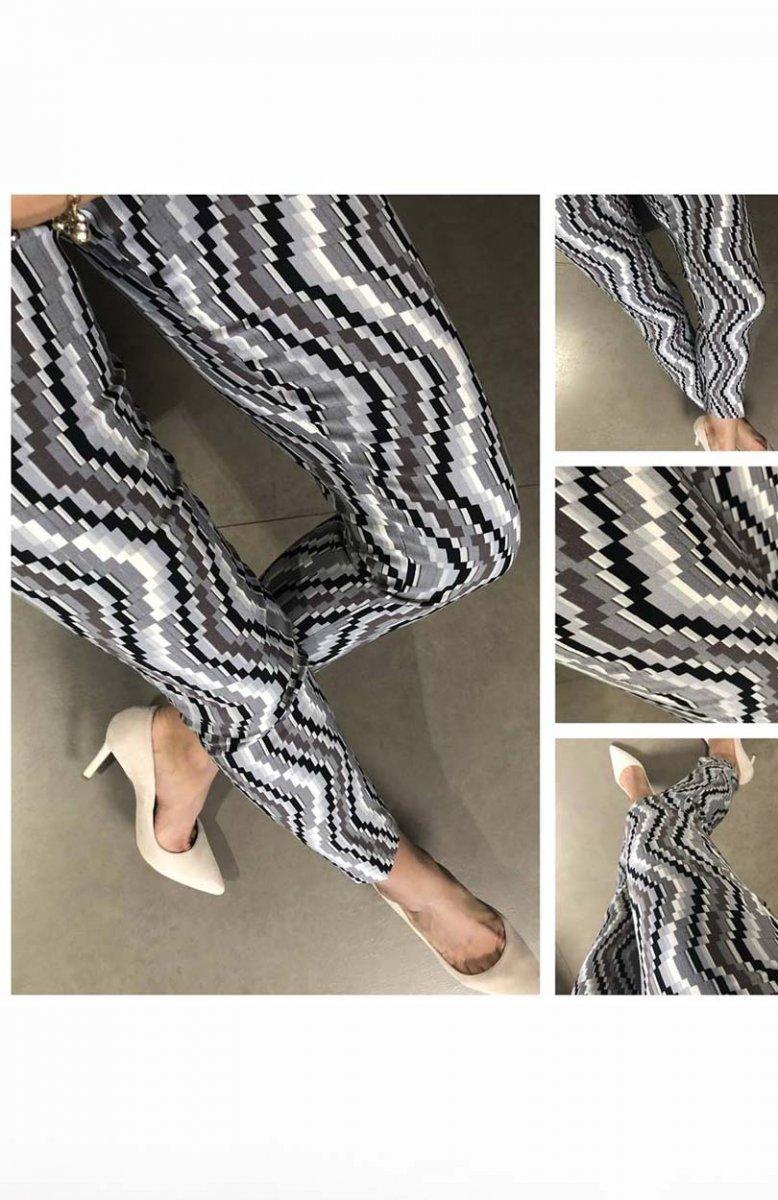 ed4f4dbb Lola Fashion spodnie cygaretki wzór 2 - Spodnie damskie - MODA ...