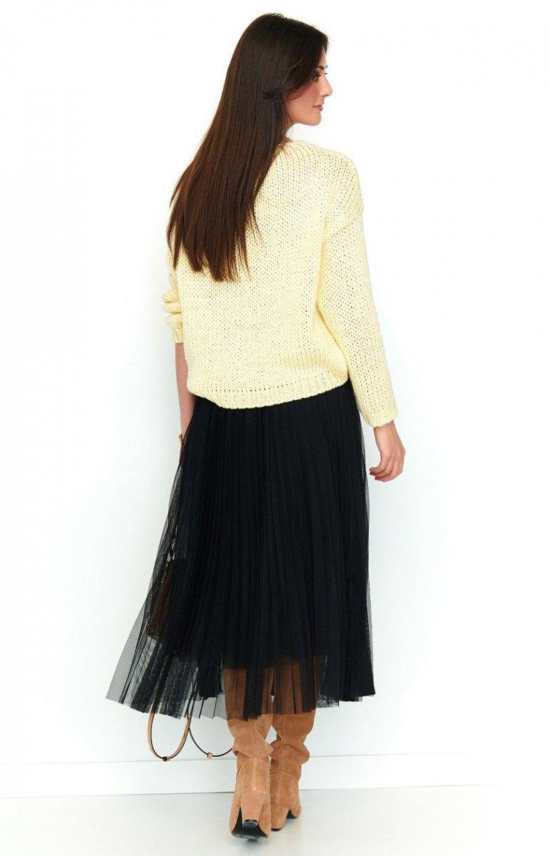 46f74ce3 Plisowana czarna długa spódnica NU183