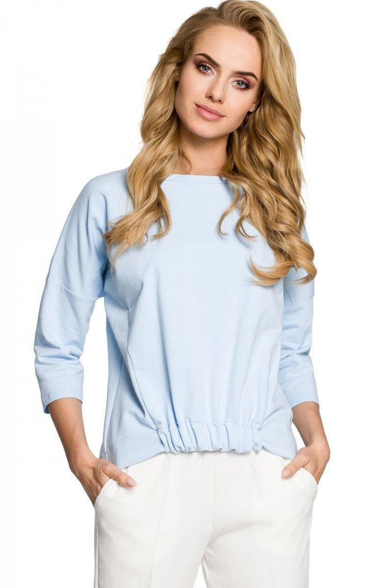 88212109897725 Moe M315 bluza błękitna - Modne bluzki 2017 - Eleganckie bluzki ...