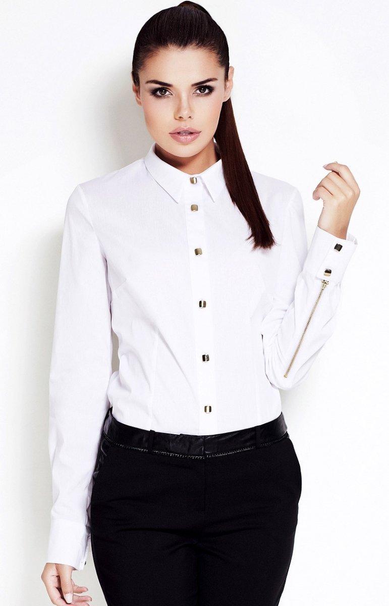 aa3e385dd4e150 Awama A52 koszula biała - Koszule i Bluzki damskie Awama - Odzież ...