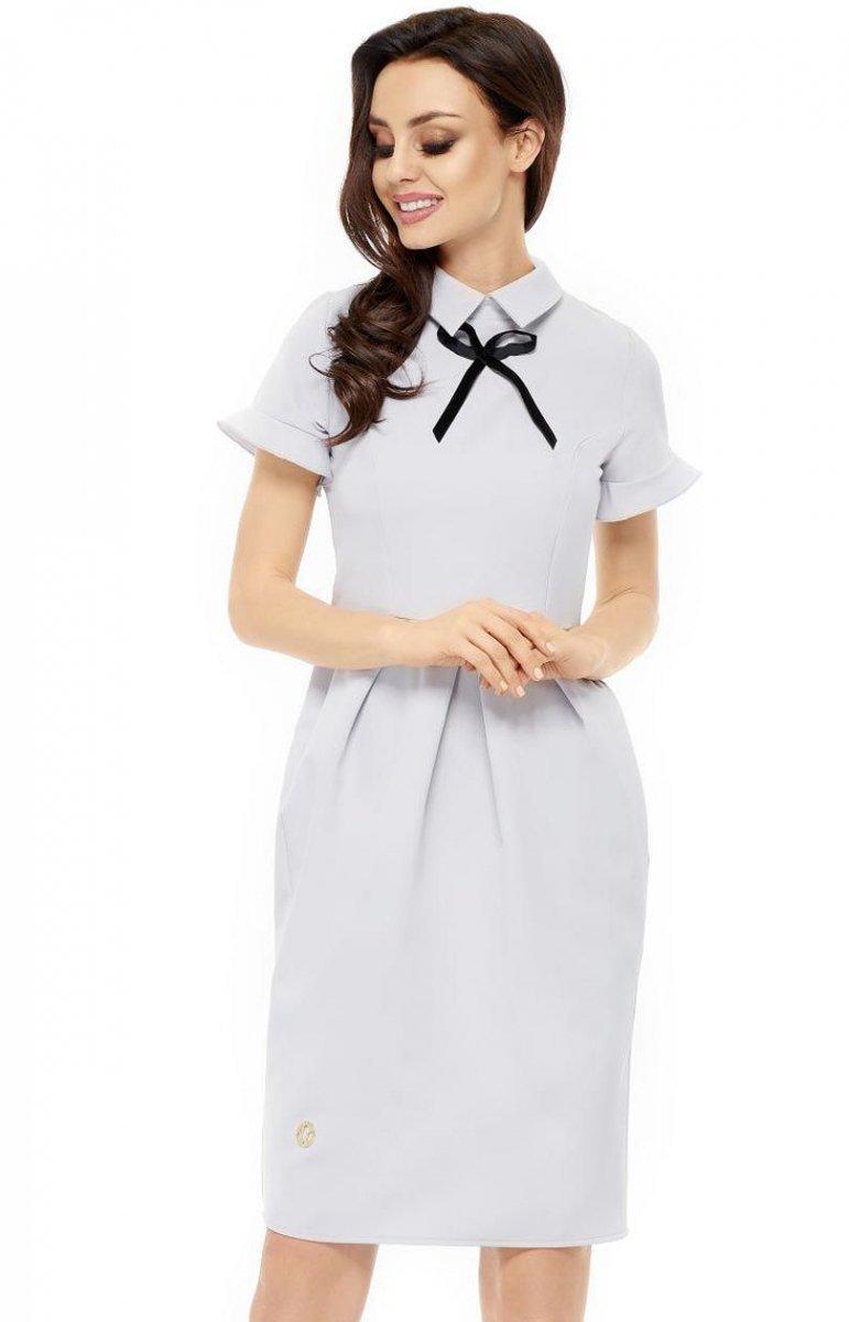 27b06ad762 Leminiade L234 sukienka szary - Sukienki do biura - Sukienki - MODA ...