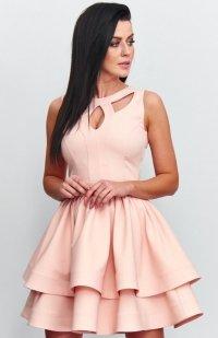 Roco R-198 sukienka pudrowy róż