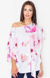 *Figl M501 bluzka różowe kwiaty