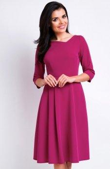 Awama A157 sukienka bordowa