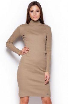 Figl M332 sukienka beżowa