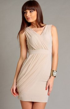 Vera Fashion Vivienne sukienka beżowa