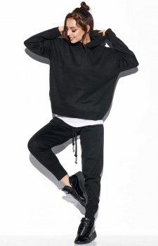 Dresowy komplet sportowy czarny LSG122