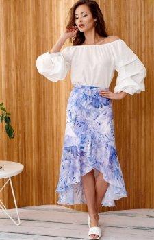 Zwiewna spódnica z falbanami 0029/R43