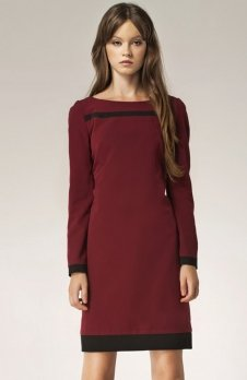 Nife S40 sukienka bordowa