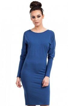 BE B020 sukienka niebieska
