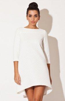 Katrus K134 sukienka pikowana ecru