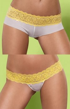 Obsessive Lacea shorties & thong duo pack majtki szorty i stringi