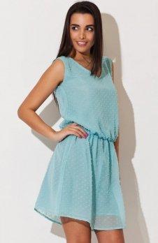 Katrus K154 sukienka miętowa