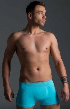 EXZO bokserki męskie mikrofibra błękitne